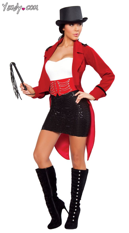 Sexy circus ringmaster costume