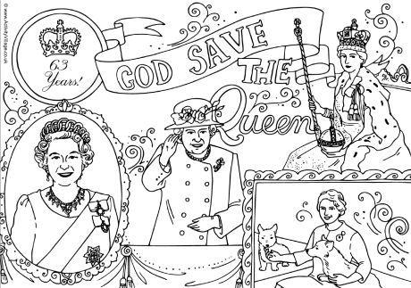 Queen Elizabeth Ii Longest Reign Colouring Page Family Coloring Pages Family Coloring Coloring Pages