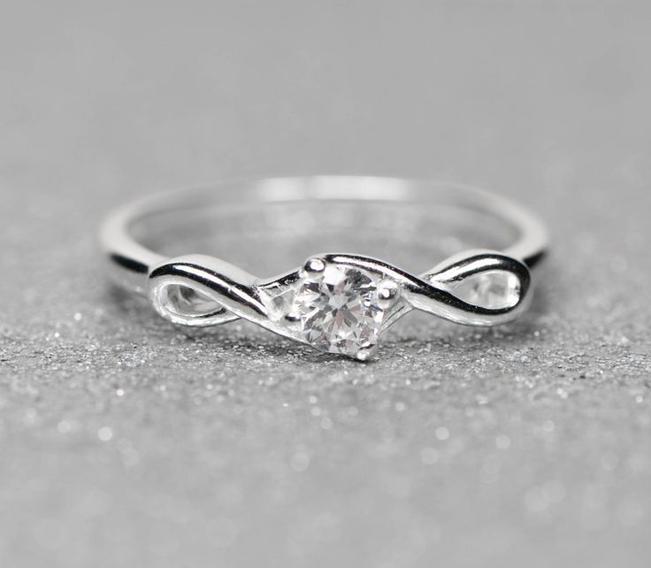 Sterling Silver Infinity CZ Promise Ring | Promise rings ...
