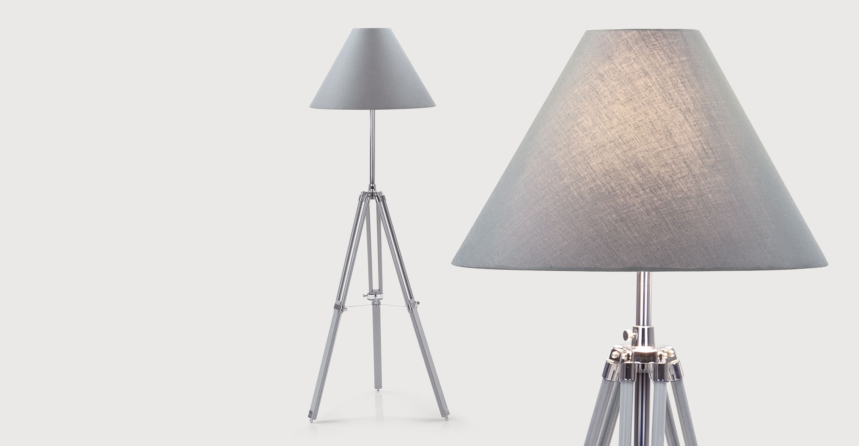 Navy tripod floor lamp grey from made express delivery this navy tripod floor lamp grey aloadofball Images