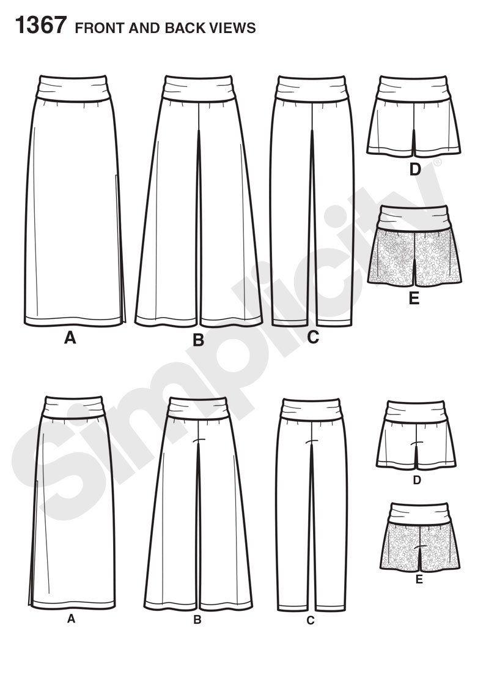Purchase Simplicity 1367 Misses' Slim Maxi Skirt, Wide Leg
