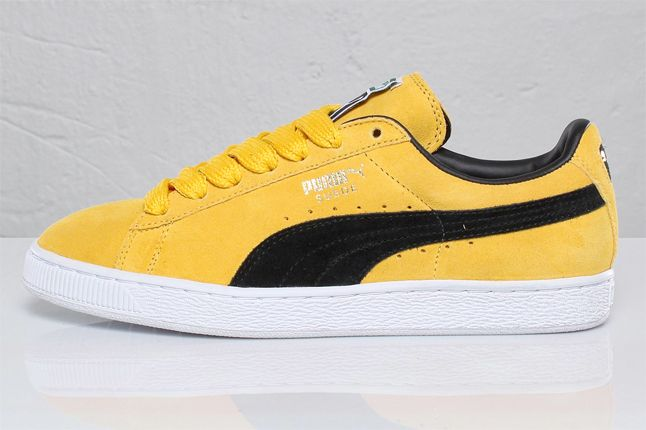PUMA SUEDE (BLACK AND YELLOW) - Sneaker