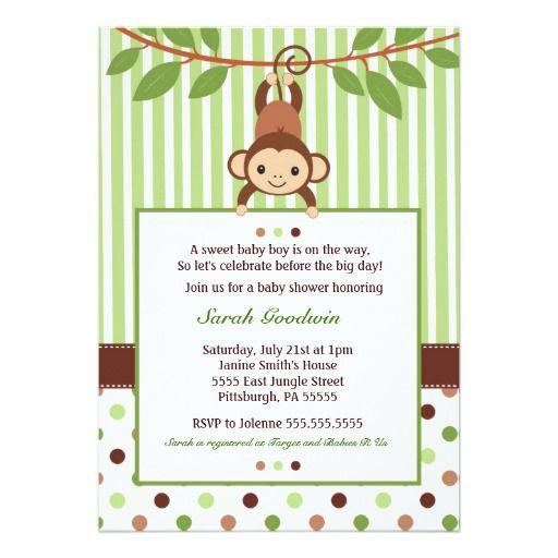 Mod monkey baby shower invitation monkey baby mod monkey and mod monkey baby shower invitation filmwisefo