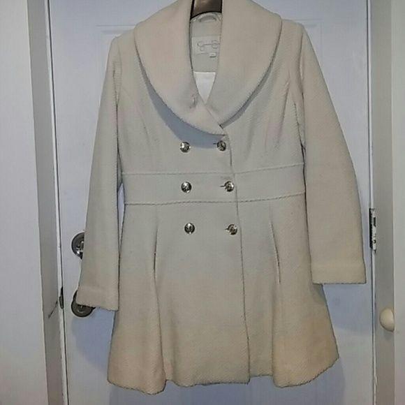Jessica Simpson WOOL Pea Coat 100 Wool Very Warm In Good