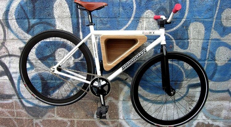 Fahrradhalterung Wand fahrradhalterung wand selber bauen ideen graffiti dreieckig modern