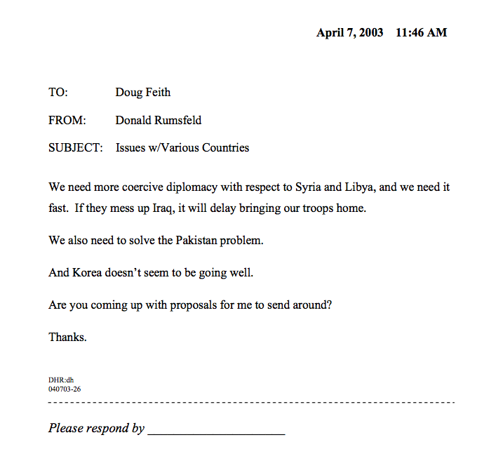 Years Ago Today Donald Rumsfeld Sent The Greatest Memo Of All