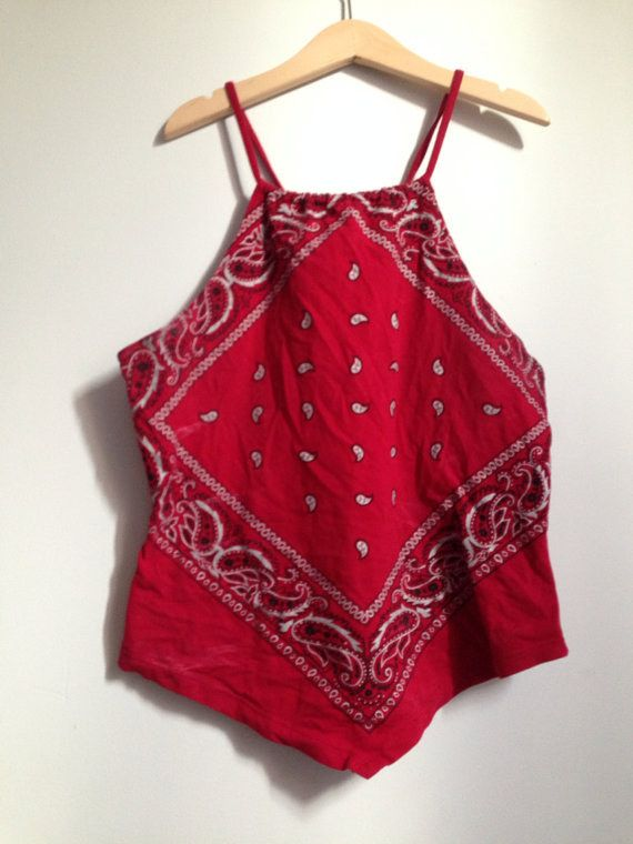 e70bbfded2da27 Handkerchief Tank Tops   19 Things '90s Girls Used To Wear In The Summer...  tbh can we bring these back