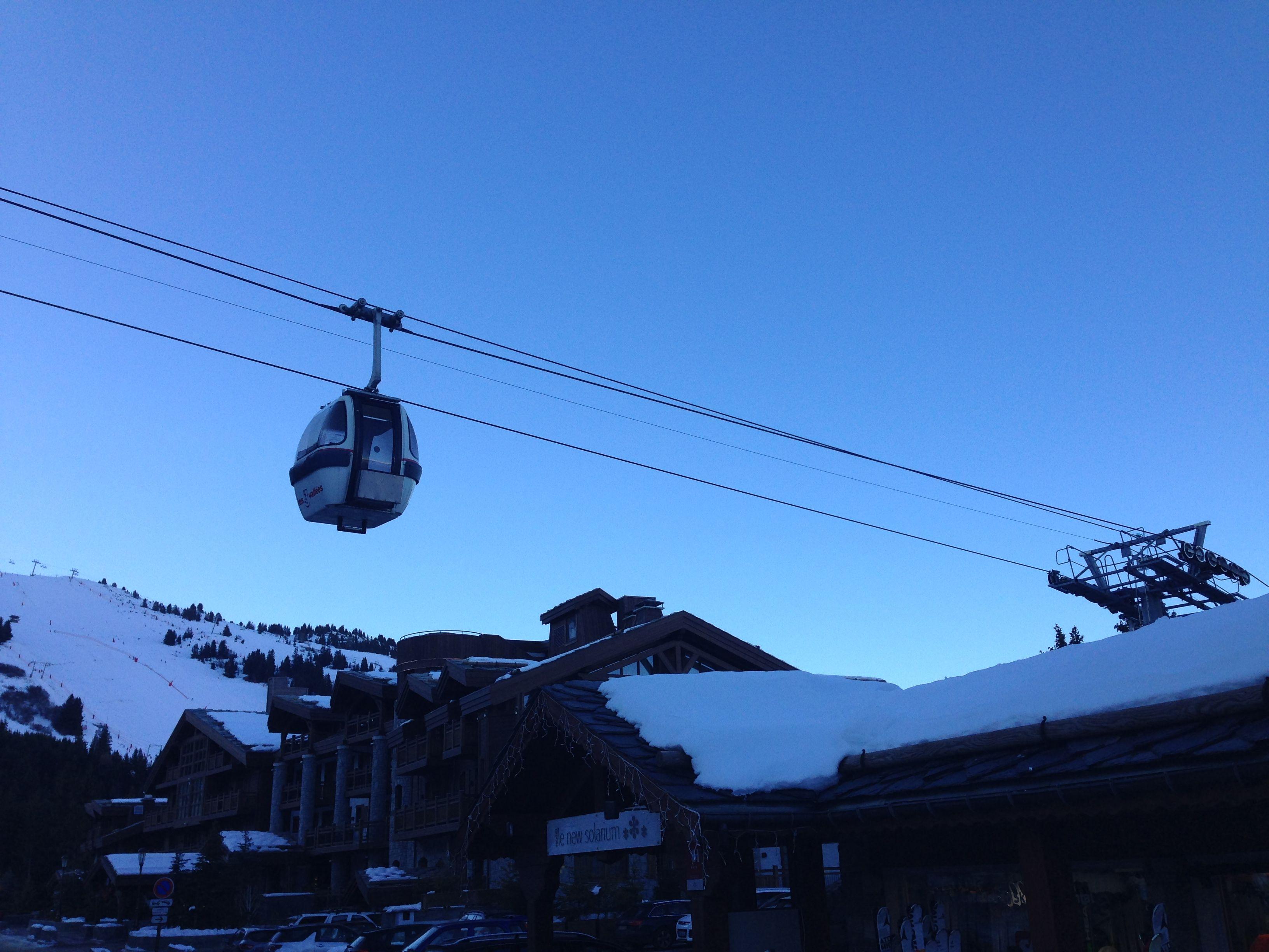 la journée de ski s'achève @hotel new solarium courchevel