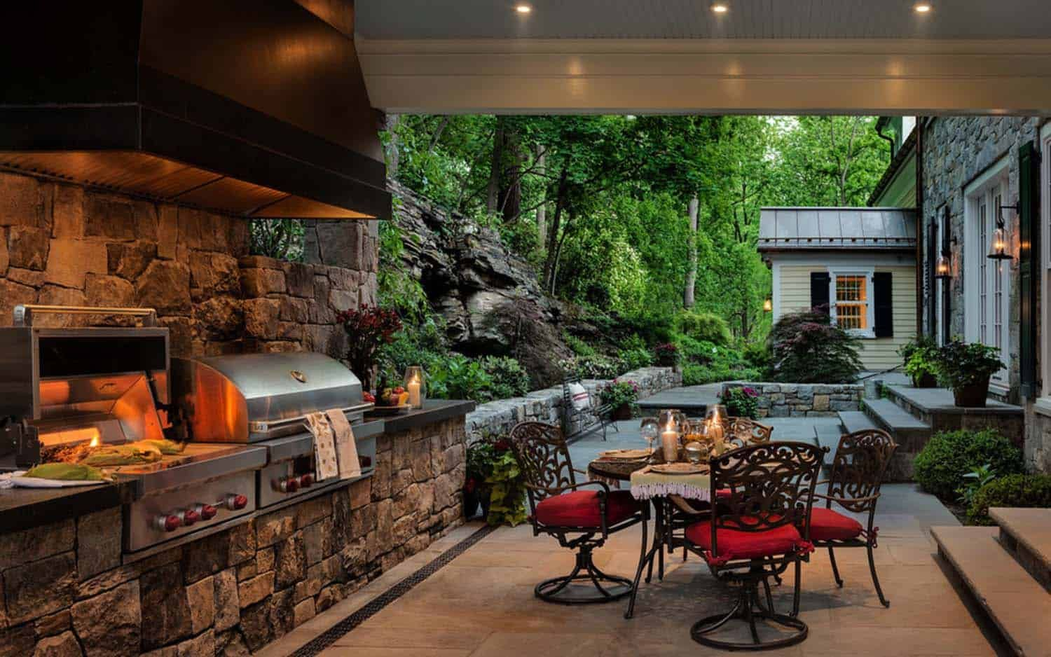 15+ Farmhouse Style Outdoor Kitchens That Will Blow Your ... on Farmhouse Outdoor Living Space id=72474