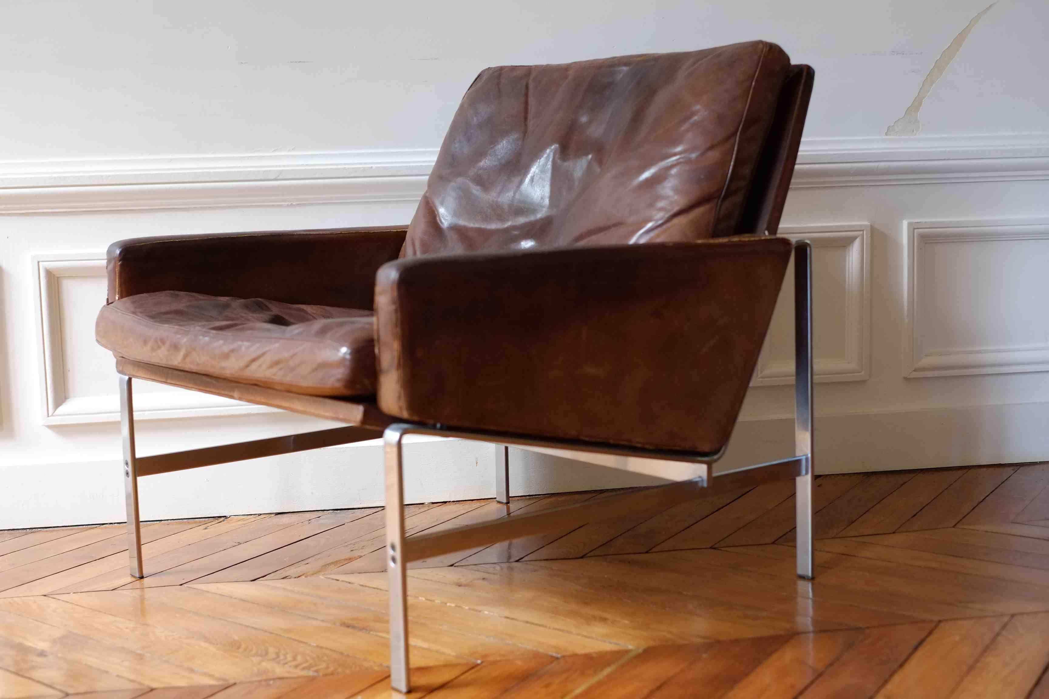 Easy Chair, modèle FK 6720  Preben Fabricius & Jørgen Kastholm  Alfred Kill International 1968