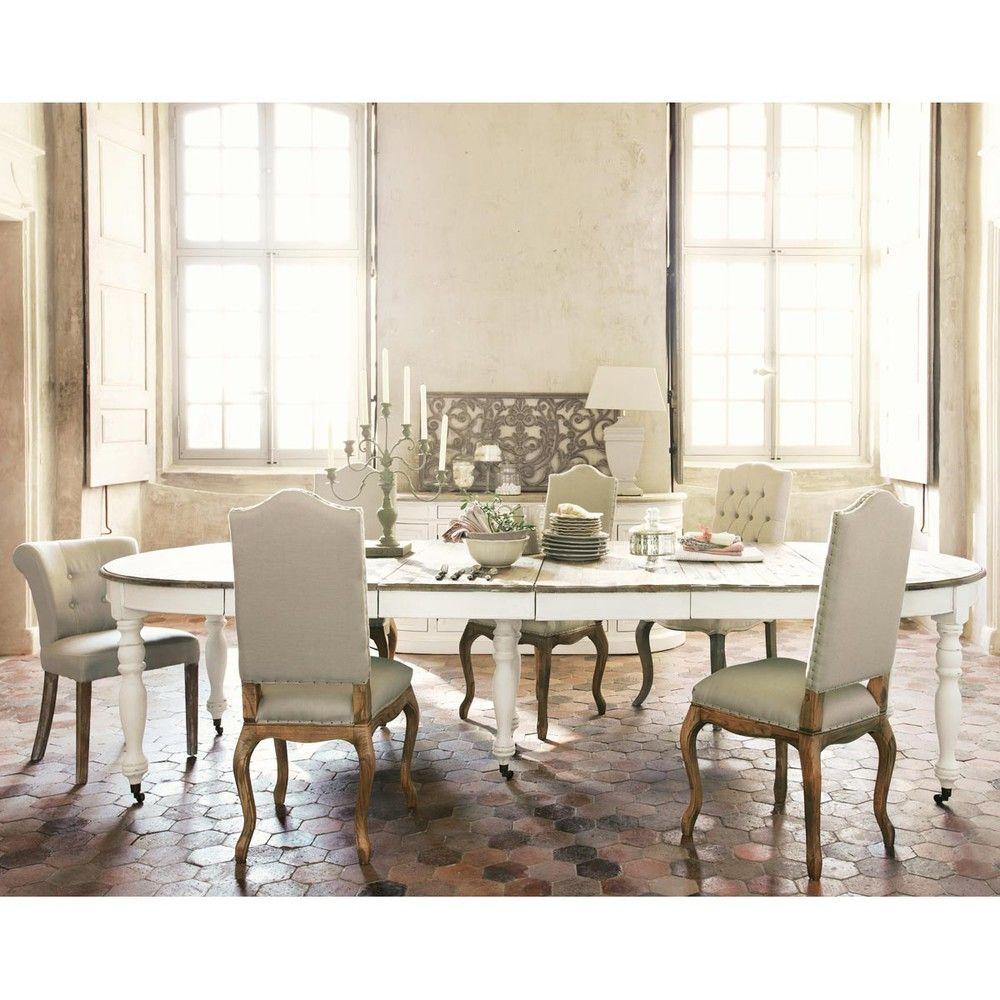 chaise capitonn e en lin et fr ne crue chambre pinterest chaise capitonn e maison du. Black Bedroom Furniture Sets. Home Design Ideas
