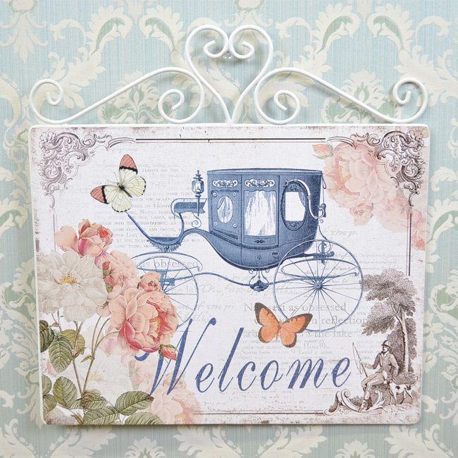 ◆STAR ウエルカム IRON WALL PLAQUE D◇<br><br>【ロココ調・ROCOCO・ヨーロピアン・お姫様・ロマンティック・インテリア・壁飾り・薔薇・バラ】:[BeBe'import]