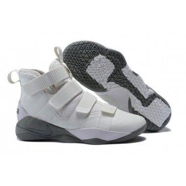 09a4c0bfe537 Nike LeBron Soldier 11 SFG Men s Light Bone and Dark Stucco 897646 ...