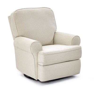 Miraculous Best Chairs Custom Tryp Swivel Glider Recliner In Snow In Creativecarmelina Interior Chair Design Creativecarmelinacom