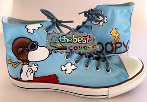 1900bb3b3d9 CONVERSE Chuck Taylor All Star SNOOPY peanuts comic strip hand ...