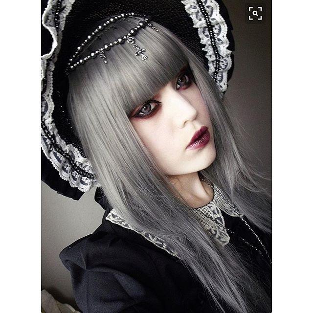 beautiful charcoal gray hair color