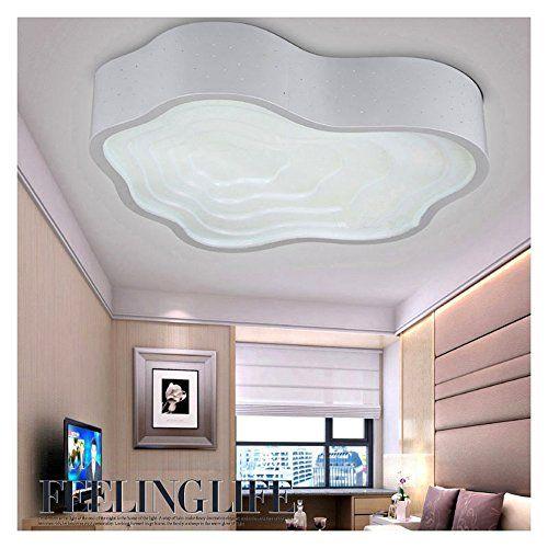 Homelavafans Modern Acryl Weiß LED Deckenleuchte Wolke De   - deckenleuchte led wohnzimmer