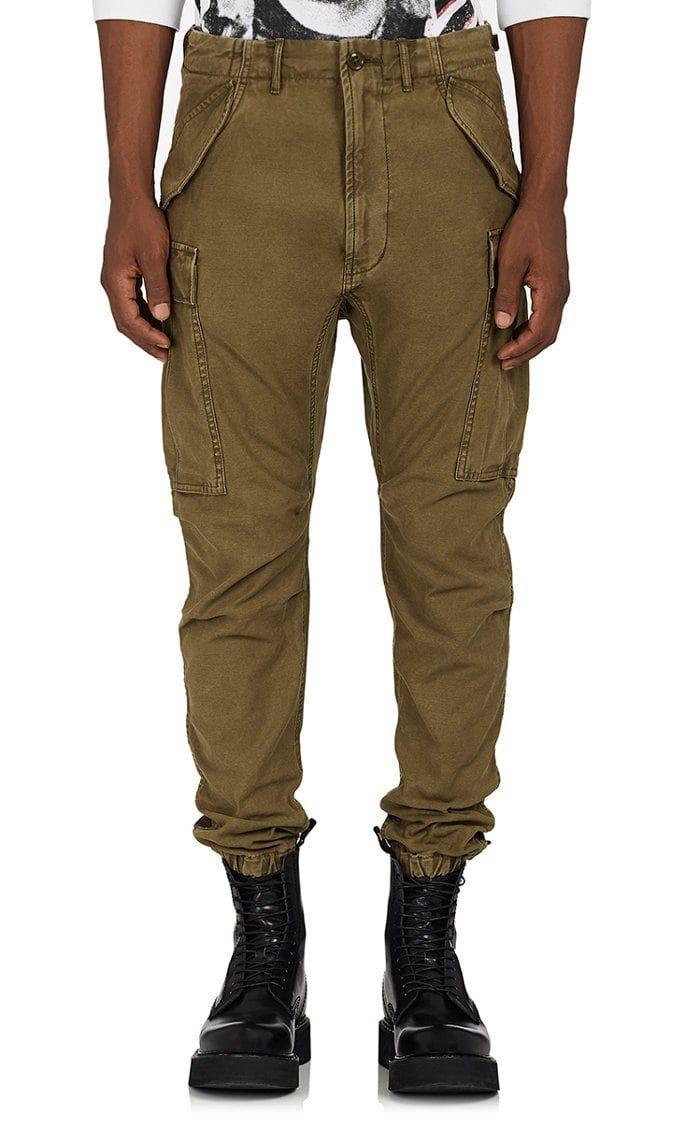 96472aba R13 Drop-Rise Cotton Canvas Cargo Pants | PANTS | Cargo pants men ...