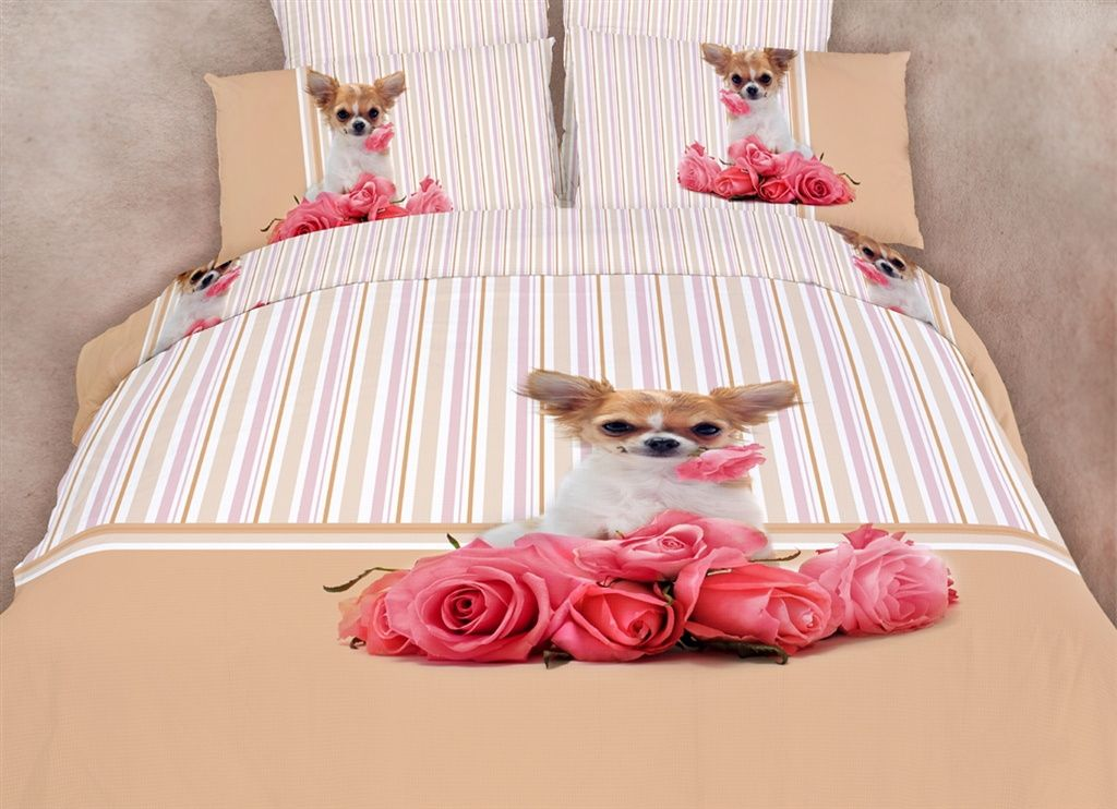 Dolce Mela Dorm Room Bedding Extra Long Twin Cute Dog
