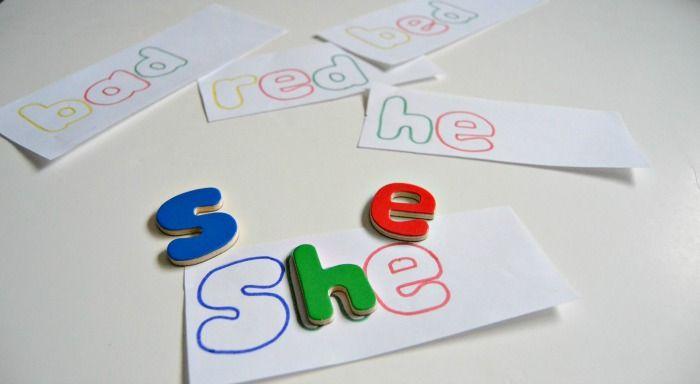 Excellent #DIY sight word puzzle via @pisforpreschool #literacylearning #educhat #homeschool