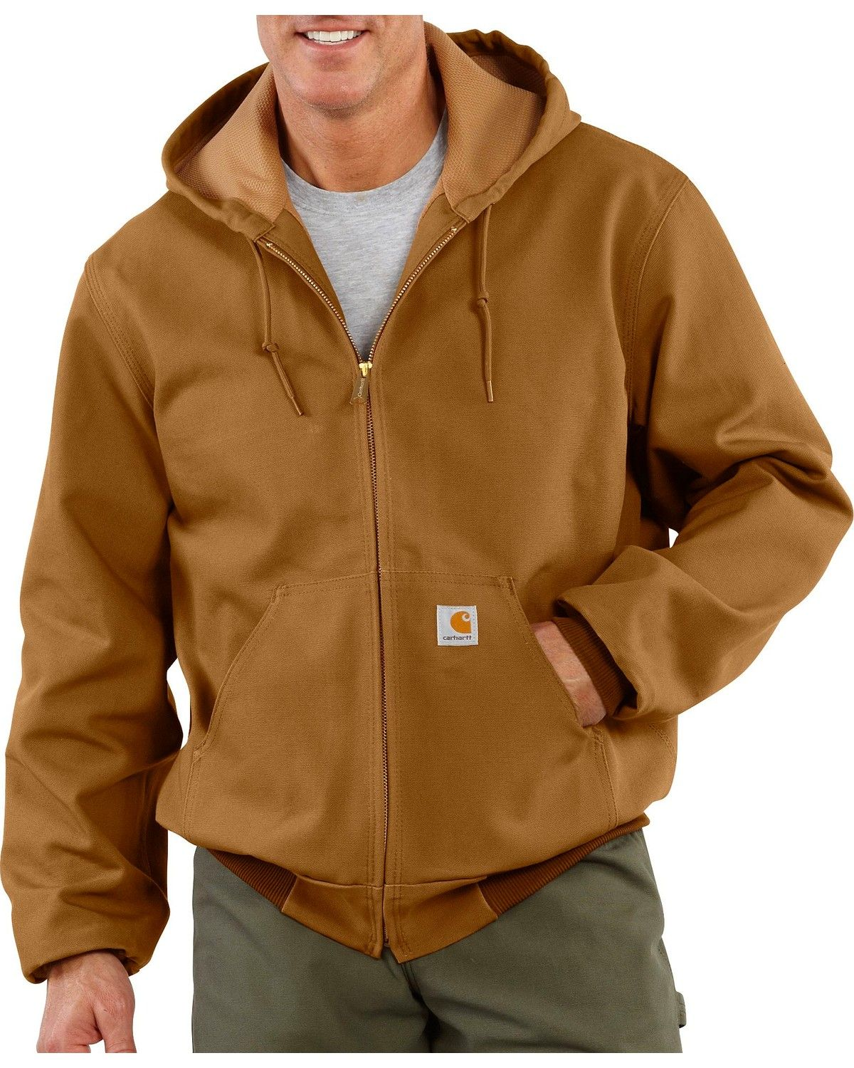 Carhartt Thermal Lined Canvas Hooded Jacket Carhartt Jacket Active Jacket Carhartt Mens [ 1500 x 1200 Pixel ]
