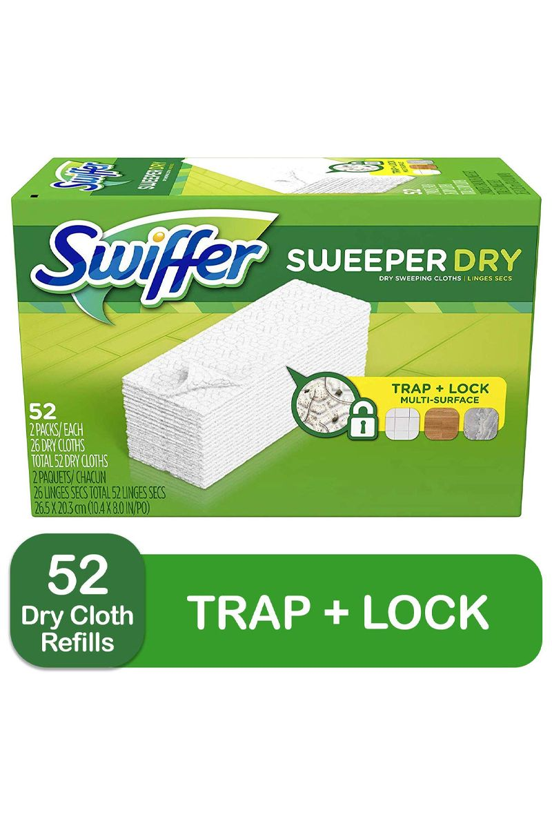 Swiffer Sweeper Dry Mop Refills For Floor Mopping And Cleaning All Purpose Floor Cleaning Product In 2020 Floor Cleaner Swiffer Kitchen Sink Strainer
