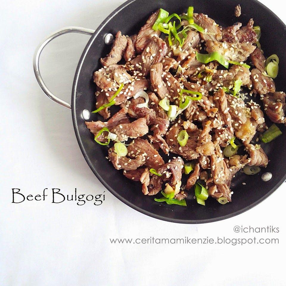 Resep Beef Bulgogi Cerita Mami Kenzie Makanan Bulgogi Resep Makanan Bayi