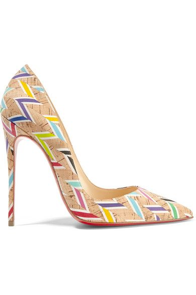 31873cfb9a90 Heel measures approximately 120mm  5 inches Multicolored cork Slip ...