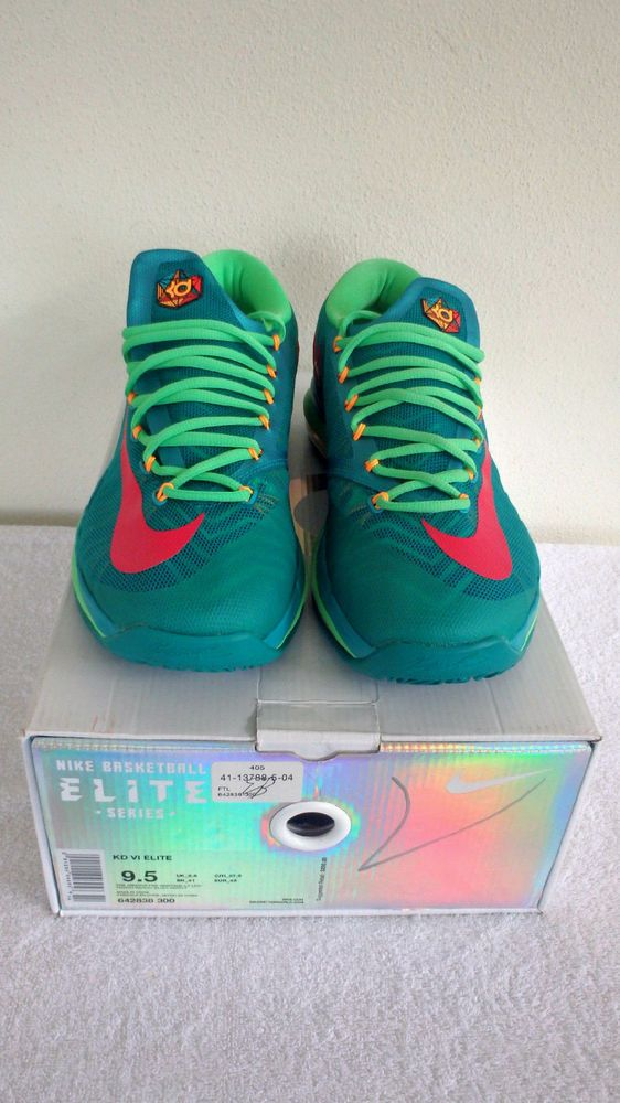 ca3784695fb2 Nike Zoom Elite KD VI 6 SuperHero Turbo Green Vivid Pink Mens 642838 300 Sz  9.5