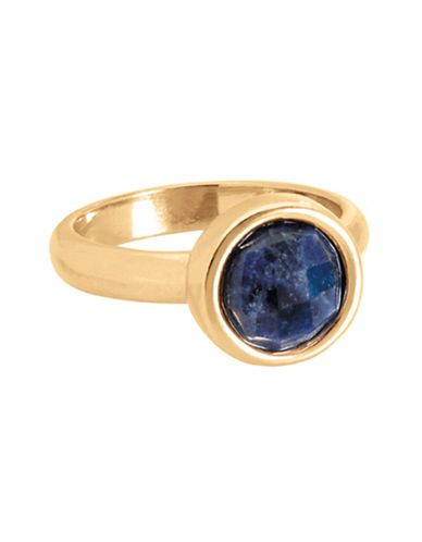 18Kt Gold Dipped Rio Lapis Stackable Ring   Hudson's Bay