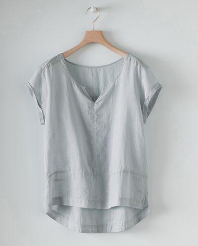 poetry   short sleeved hemp top