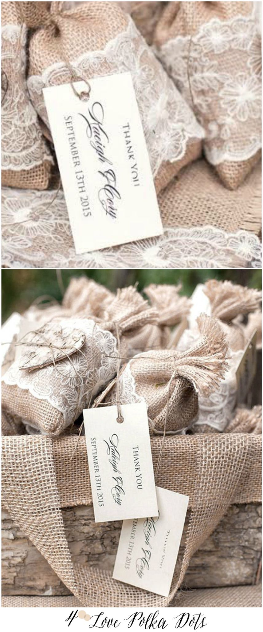 FAVOR BAGS & TAGS favor bags | Wedding favor bags, Burlap lace and ...