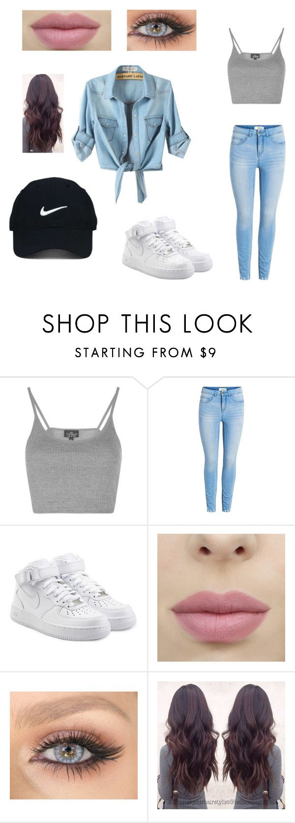 """""""Nike Denim"""" by alyssasr013 on Polyvore featuring Topshop, NIKE and Nike Golf"""