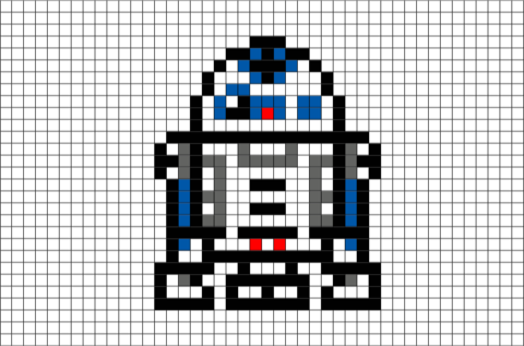 R2 D2 Pixel Art Pixel Art Cross Stitch Bookmarks Star