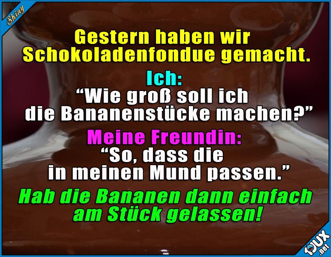 Passt doch! :P #Schokoladenfondue #Freundin #ärgern #lustig