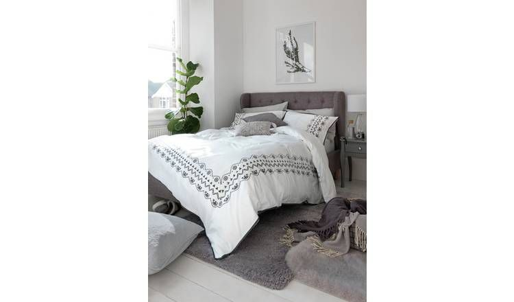 Buy Argos Home Condor Double Bed Frame Grey Bed Frames Grey