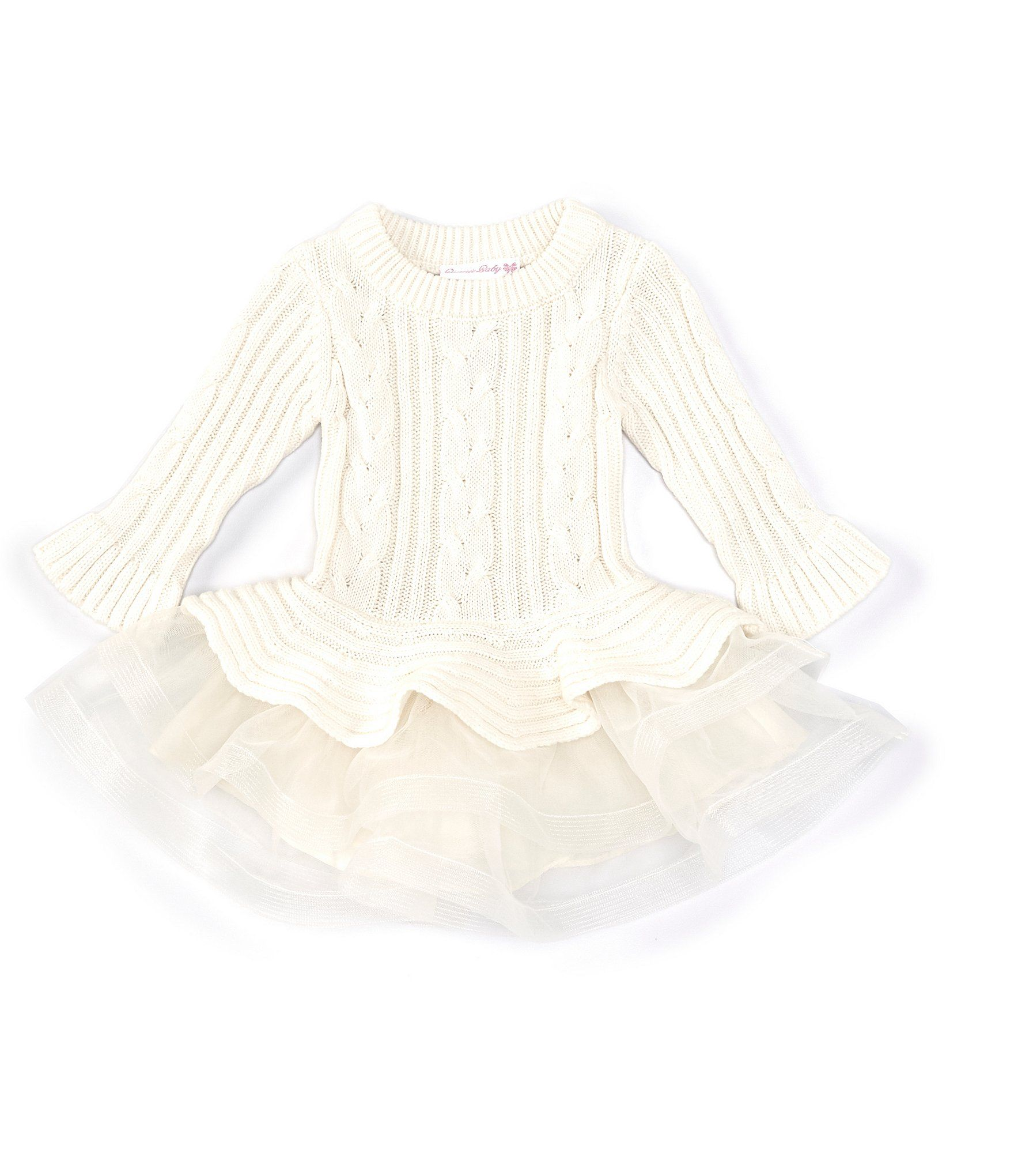 Photo of Bonnie Jean Baby Girls 12-24 Months Bell-Sleeve Cable-Knit Dress | Dillard's