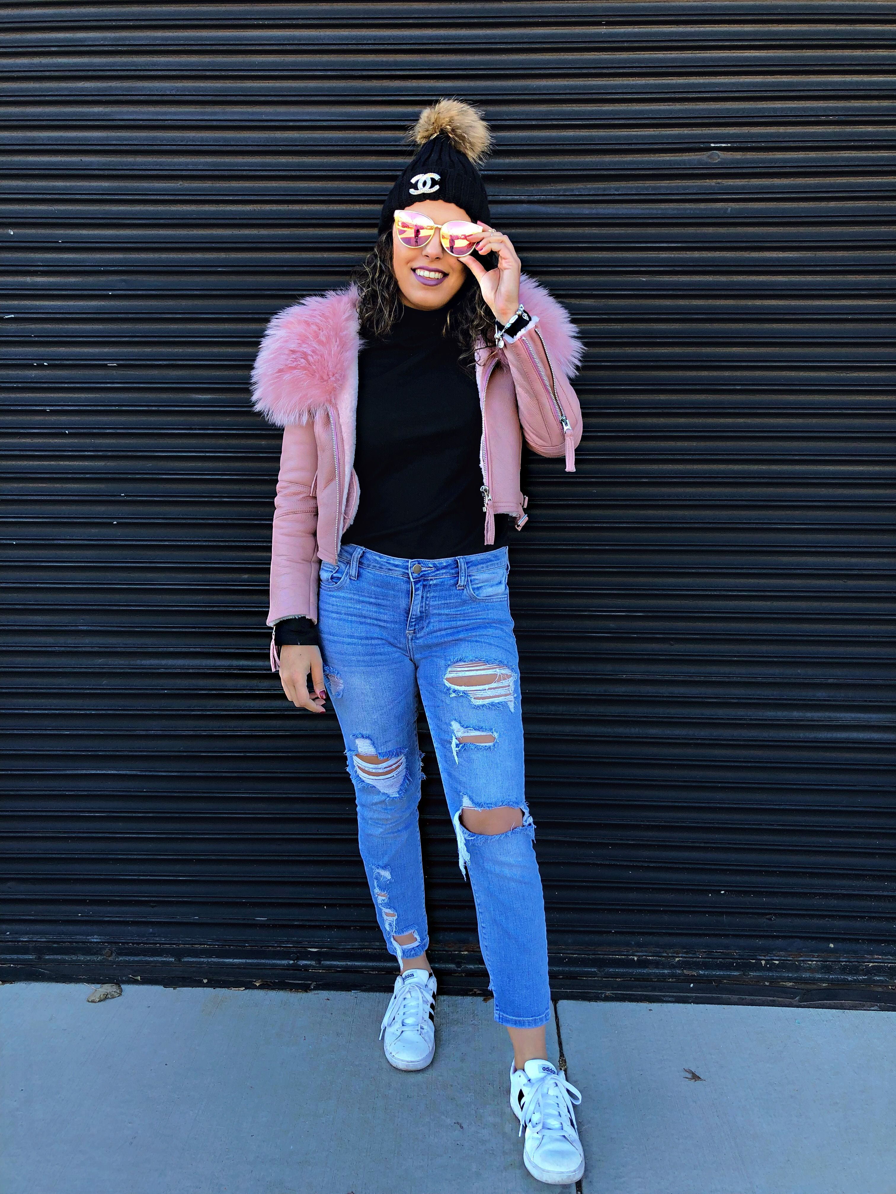 Winter Coats Winter Coats For Women Winter Coats For Girls Pink Fur Coats Pink Leather Jacket Pi Winter Outfits Winter Coats Women Distressed Jeans Outfit [ 4032 x 3024 Pixel ]