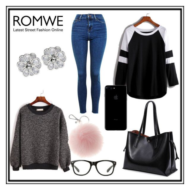 """""""Romwe"""" by starn ❤ liked on Polyvore featuring Topshop"""