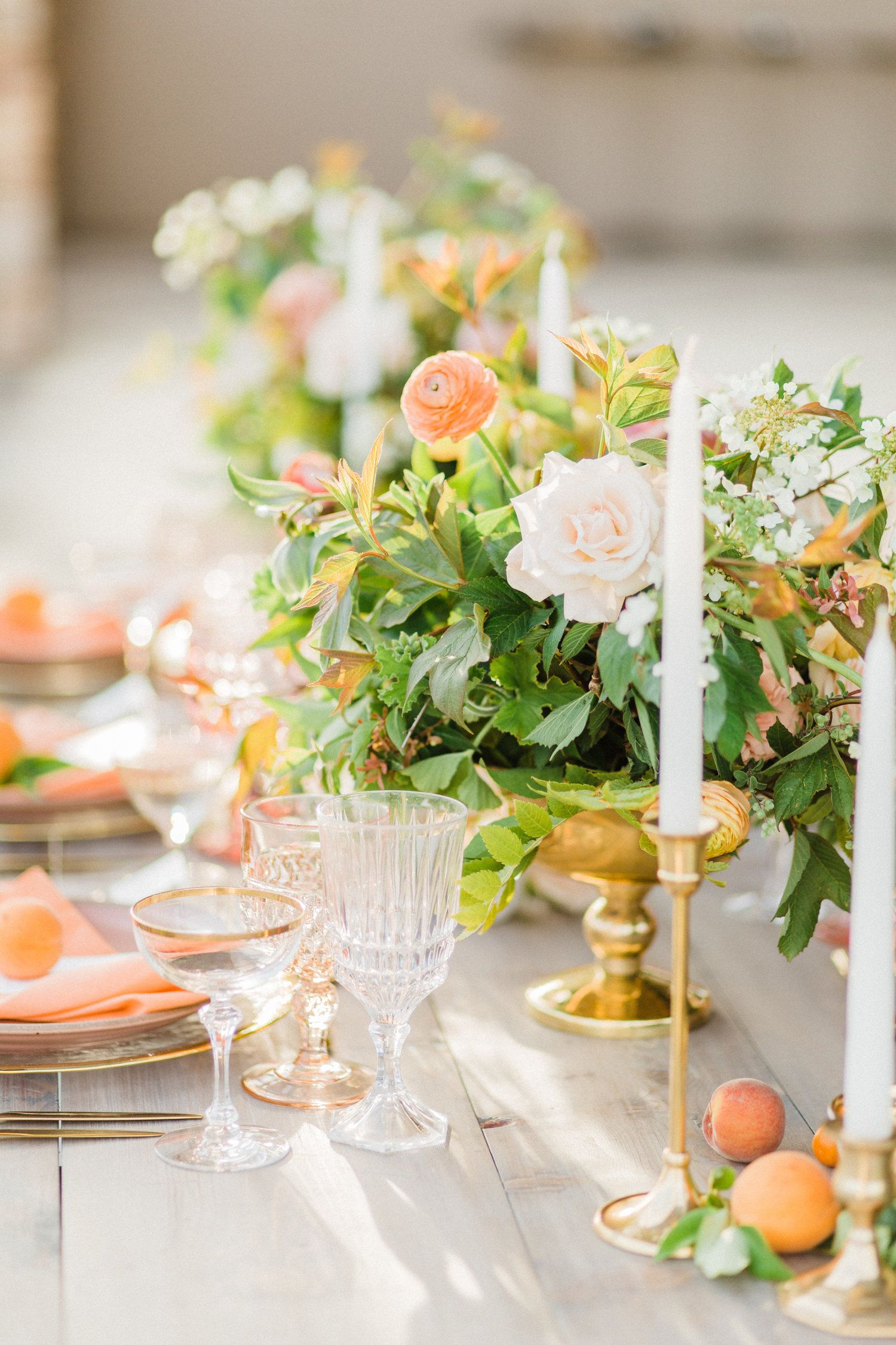 Loving this citrus wedding inspiration from a wine country wedding