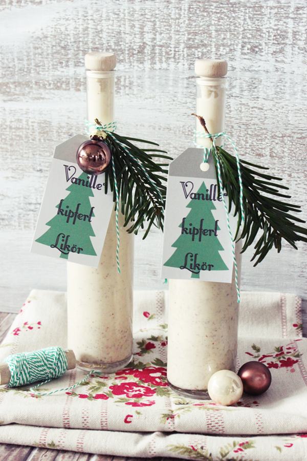 Geschenke aus der Küche: Vanillekipferl Likör (s\'Bastelkistle ...