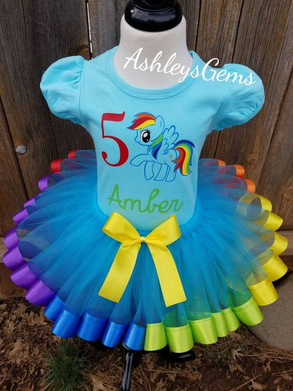Rainbow Dash Dress, Rainbow Dash Tutu, My Little Pony Tutu, My ...