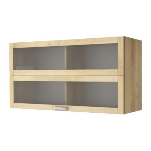 IKEAu0027s Varde Glass Door Wall Cabinet. White Also Available; Single Version  Also Avail