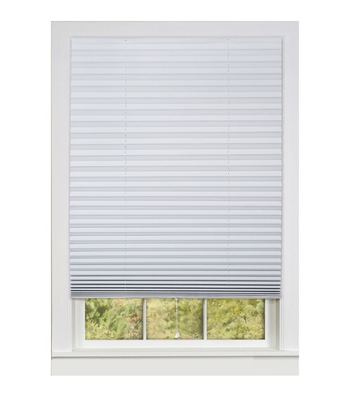 1 2 3 36 X75 Vinyl Room Darkening Pleated Shades White Joann In 2020 Vinyl Blinds Living Room Blinds Vinyl Room