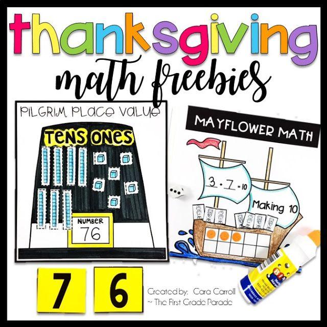 Thanksgiving Math Freebies! - The First Grade Parade | November ...