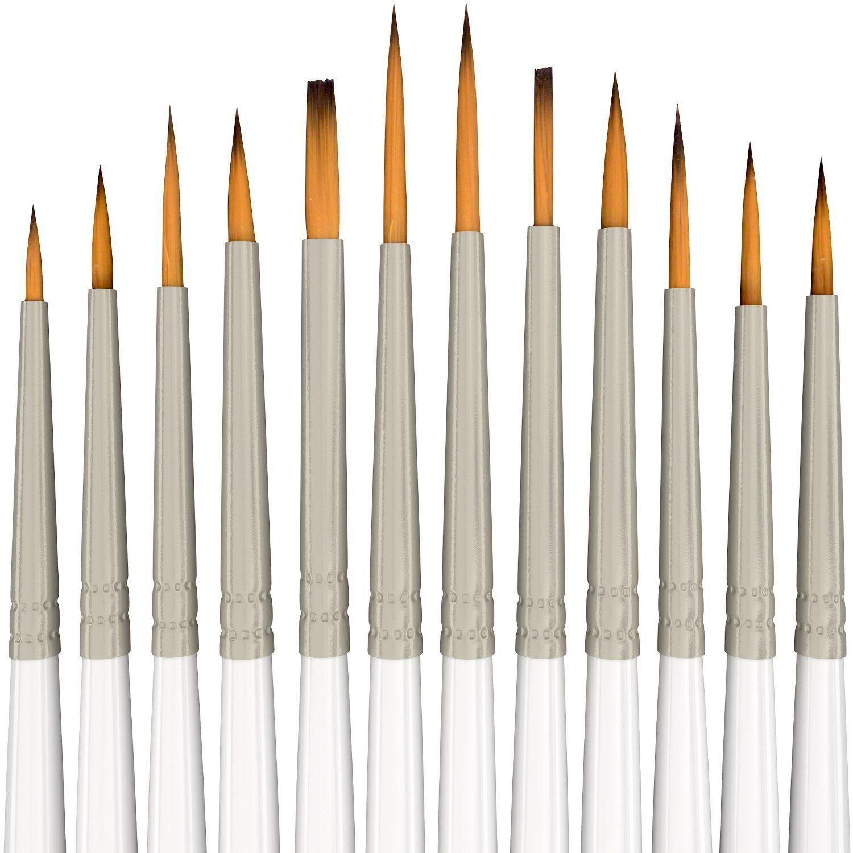 Miniature Brushes For Detailing Professional Detail Paint Brush Set Of 6 Pcs