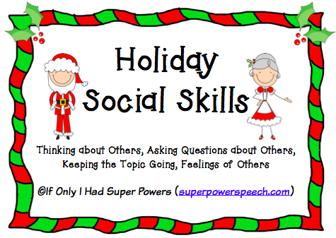 Holiday Palooza Social Skills Social Skills Autism Teaching Social Skills