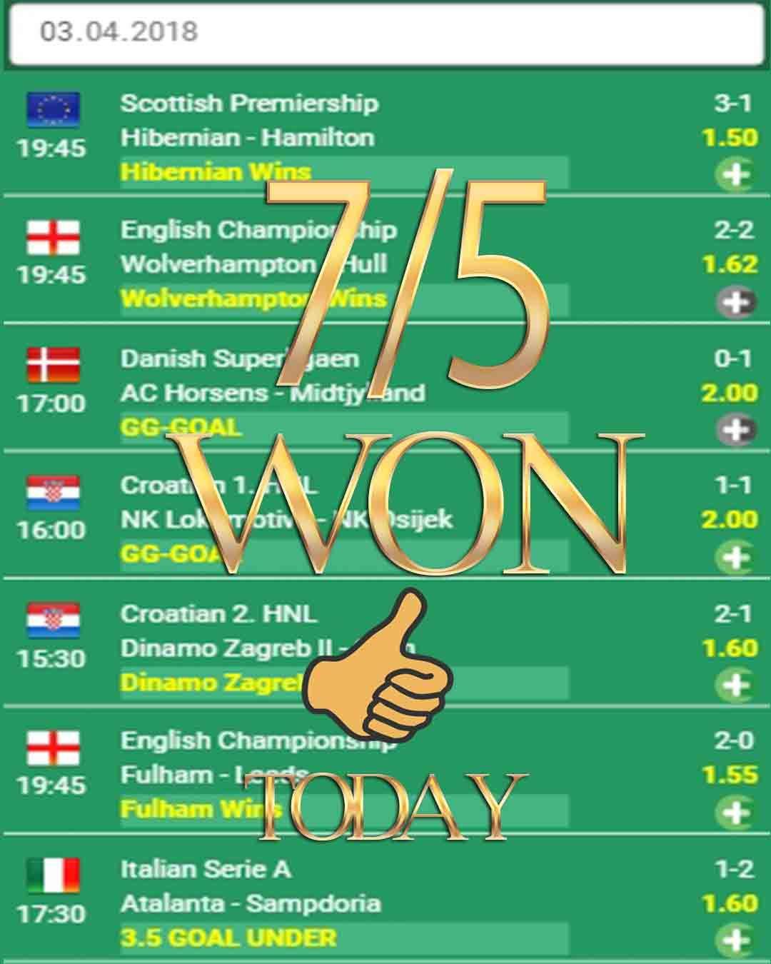 Vip betting odds 7/5 WON Bets analysis, Betsson