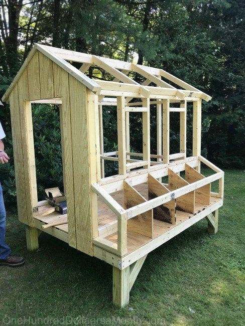 easy simple chicken coop 5 nesting boxes e Hundred Dollars a Month