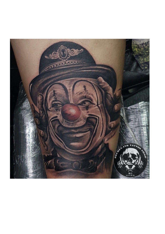 Clown custom tattoo tattoos tattoo shop ink tattoo